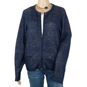 Eileen Fisher Midnight Jewel Zip Sweater Cardigan